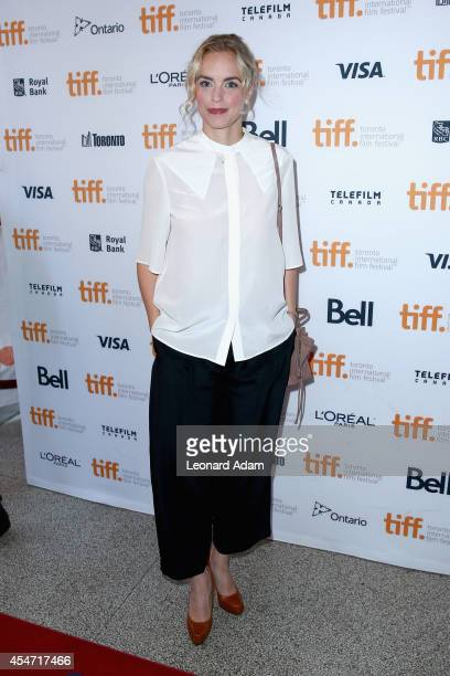 Actress Nina Hoss attends the 'Phoenix' premiere during the 2014 Toronto International Film Festival at The Elgin on September 5 2014 in Toronto...