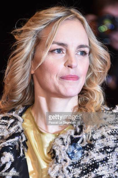 Actress Nina Hoss attends the 'Return to Montauk' premiere during the 67th Berlinale International Film Festival Berlin at Berlinale Palace on...