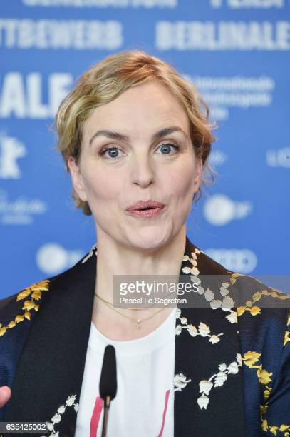 Actress Nina Hoss attends the 'Return to Montauk' press conference during the 67th Berlinale International Film Festival Berlin at Grand Hyatt Hotel...