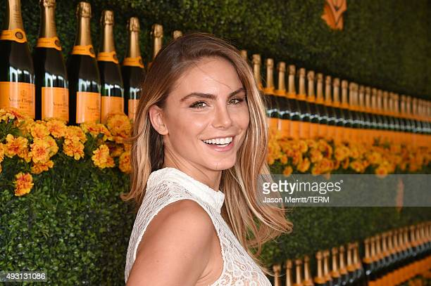 Actress Nina Senicar attends the SixthAnnual Veuve Clicquot Polo Classic at Will Rogers State Historic Park on October 17 2015 in Pacific Palisades...