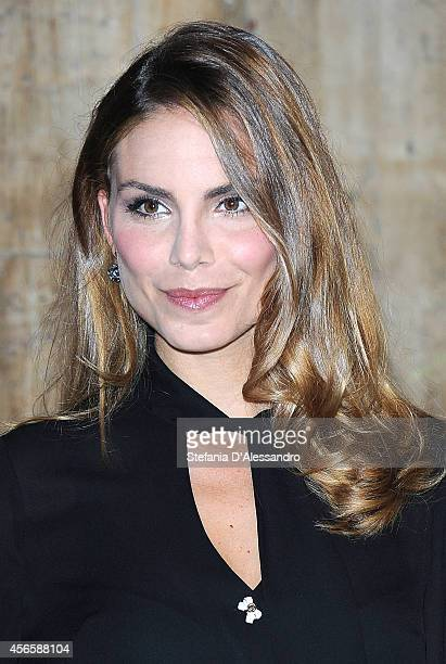 Actress Nina Senicar attends 'Tutto Molto Bello' Photocall on October 3 2014 in Milan Italy