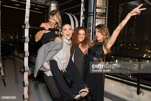 Actress Nina Senicar Gym Owner Maddalena Corvaglia Krav Maga expert Gabrielle Fellus and Gym owner Elisabetta Canalis attend Elisabetta and Maddalena...