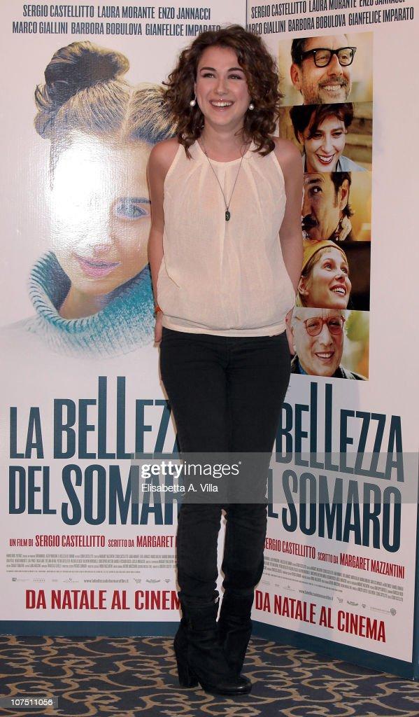 Actress Nina Torresi attends 'La Bellezza Del Somaro' photocall at the Bernini Bristol Hotel on December 10, 2010 in Rome, Italy.