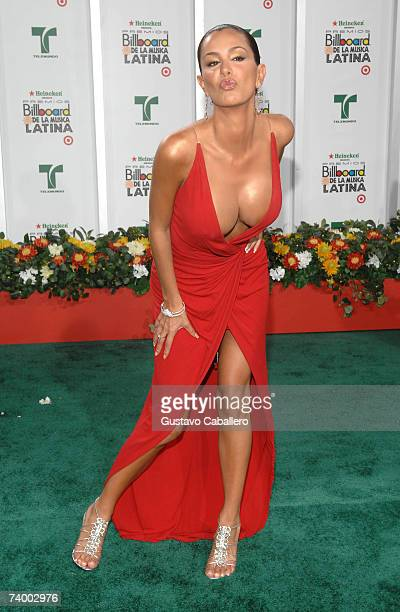 Actress Ninel Conde attends the 2007 Billboard Latin Music Awards at the Bank United Center April 26 2007 in Coral Gables Florida