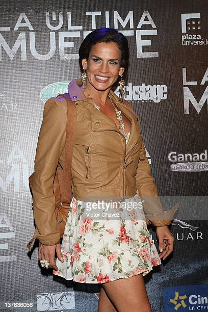 Actress Niurka Marcos attends 'The Last Death ' Mexico City premiere at Cinepolis Plaza Universidad on January 23 2012 in Mexico City Mexico