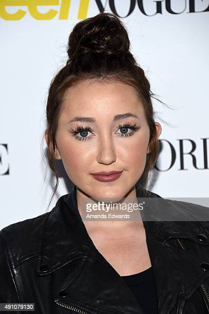 Actress Noah Cyrus arrives at Teen Vogue's 13th Annual Young Hollywood Issue Launch Party on October 2 2015 in Los Angeles California