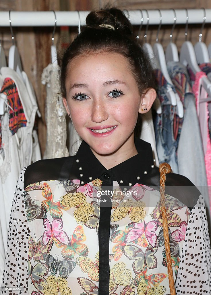 Actress Noah Cyrus attends the Boohoo's Summer 2013 Press Day at SUR Lounge on March 26, 2013 in Los Angeles, California.