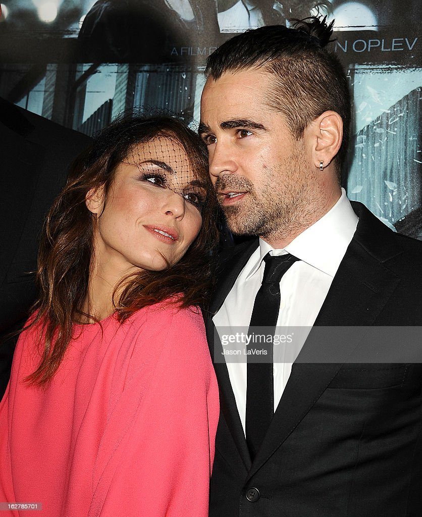 Actress Noomi Rapace and actor Colin Farrell attend the premiere of 'Dead Man Down' at ArcLight Cinemas on February 26, 2013 in Hollywood, California.