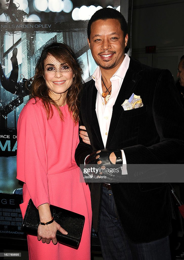 Actress Noomi Rapace and actor Terrence Howard attend the premiere of 'Dead Man Down' at ArcLight Cinemas on February 26, 2013 in Hollywood, California.