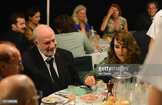 Actress Noomi Rapace and Director Brian De Palma attend a gala dinner hosted by JaegerLeCoultre celebrating 'Passion' at Harry's Dolci Cipriani on...