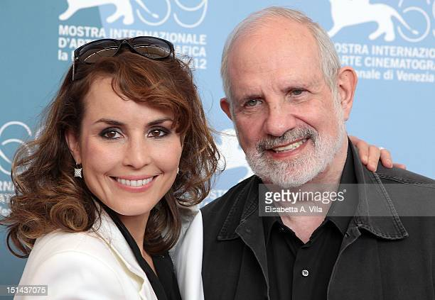 Actress Noomi Rapace and director Brian De Palma attend 'Passion' Photocall during The 69th Venice Film Festival at the Palazzo del Casino on...