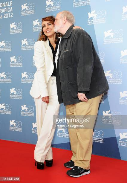 Actress Noomi Rapace and director Brian de Palma attend the 'Passion' Photocall during the 69th Venice Film Festival at the Palazzo del Casino on...