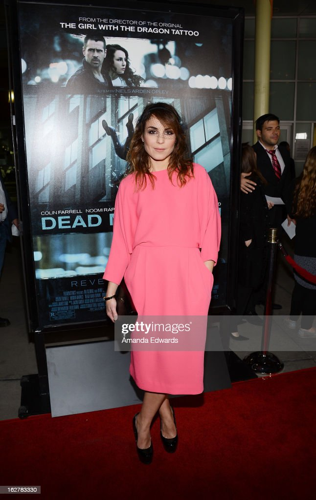 Actress Noomi Rapace arrives at the Los Angeles Premiere of 'Dead Man Down' at ArcLight Hollywood on February 26, 2013 in Hollywood, California.