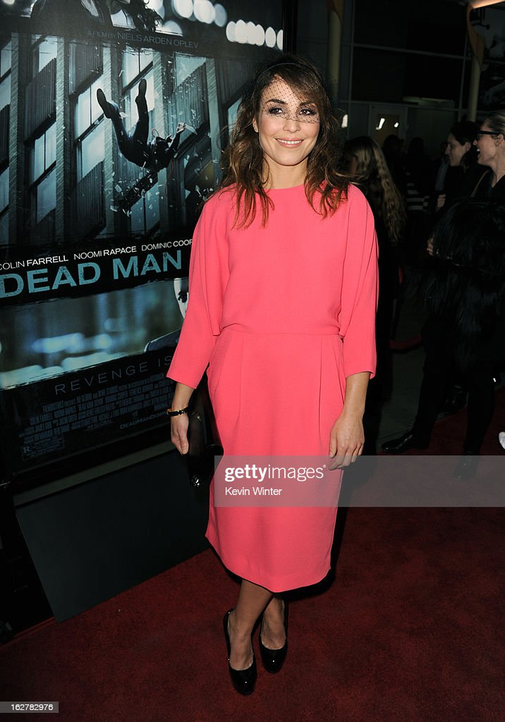 Actress <a gi-track='captionPersonalityLinkClicked' href=/galleries/search?phrase=Noomi+Rapace&family=editorial&specificpeople=4522889 ng-click='$event.stopPropagation()'>Noomi Rapace</a> arrives to the premiere of FilmDistricts's 'Dead Man Down' at ArcLight Hollywood on February 26, 2013 in Hollywood, California.