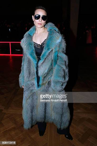 Actress Noomi Rapace attends the Dior Homme Menswear Fall/Winter 20162017 show as part of Paris Fashion Week on January 23 2016 in Paris France
