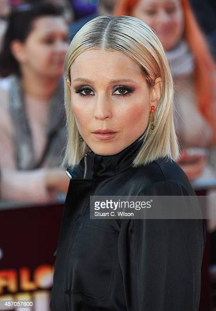 Actress Noomi Rapace attends the red carpet arrivals of 'The Drop' during the 58th BFI London Film Festival at Odeon West End on October 11 2014 in...