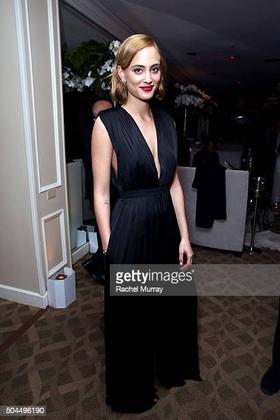 Actress Nora Arnezeder attends Amazon's Golden Globe Awards Celebration at The Beverly Hilton Hotel on January 10 2016 in Beverly Hills California