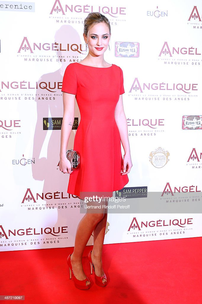 Actress <a gi-track='captionPersonalityLinkClicked' href=/galleries/search?phrase=Nora+Arnezeder&family=editorial&specificpeople=4405993 ng-click='$event.stopPropagation()'>Nora Arnezeder</a> attends the 'Angelique' Paris movie premiere at Cinema Gaumont Capucine on December 16, 2013 in Paris, France.