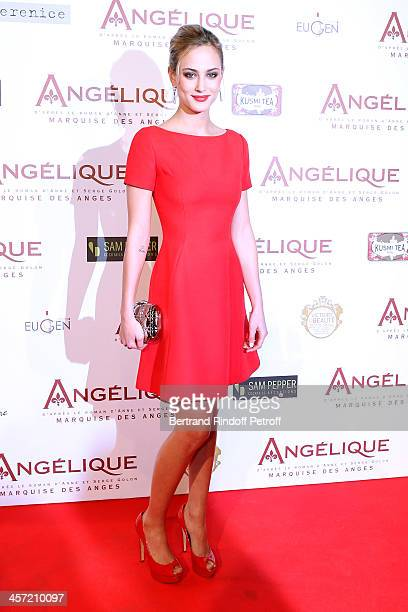 Actress Nora Arnezeder attends the 'Angelique' Paris movie premiere at Cinema Gaumont Capucine on December 16 2013 in Paris France