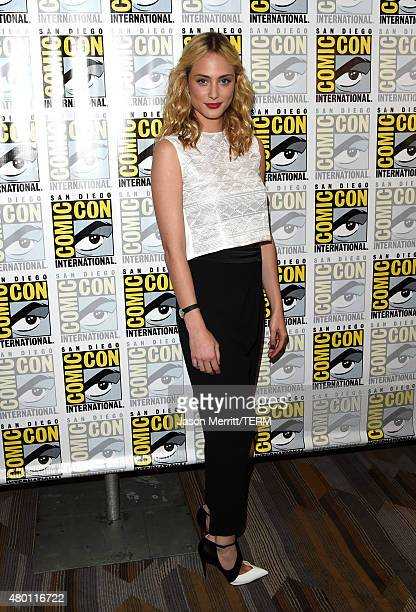 Actress Nora Arnezeder attends the CBS Television Studios press room during ComicCon International 2015 at the Hilton Bayfront on July 9 2015 in San...