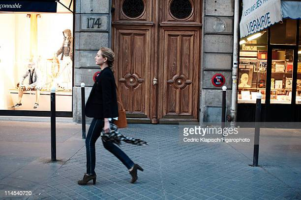Actress Nora Arnezeder is photographed for Madame Figaro on April 5 2011 in Paris France Published image Figaro ID 100351040 CREDIT MUST READ Cedric...