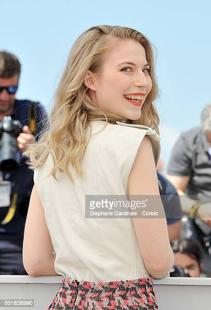 Actress Nora von Waldstatten attends the 'Personal Shopper' photocall during the 69th annual Cannes Film Festival at the Palais des Festivals on May...
