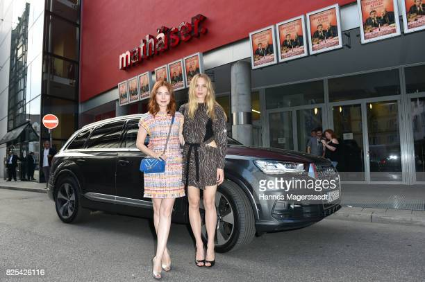 Actress Nora Waldstaetten and Lilith Stangenberg during the 'Griessnockerlaffaere' premiere at Mathaeser Filmpalast on August 1 2017 in Munich Germany