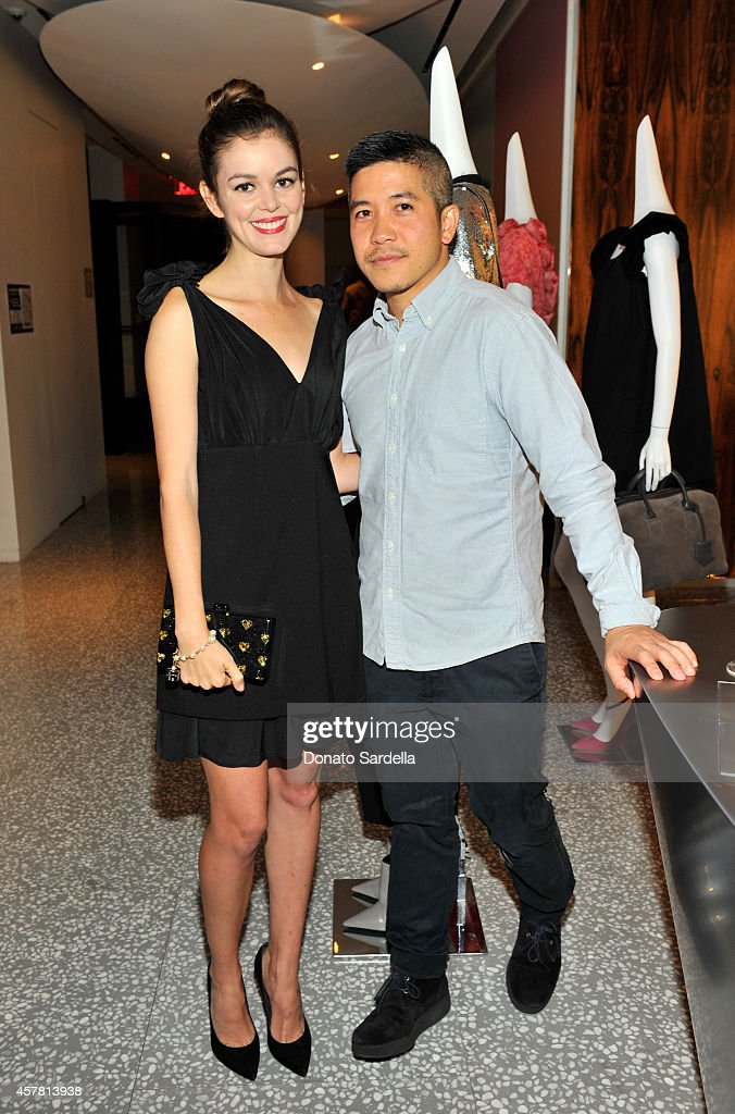 Actress Nora Zehetner and fashion designer Thakoon Panichgul attend a private dinner hosted by Barneys New York and Rashida Jones in honor of Thakoon...