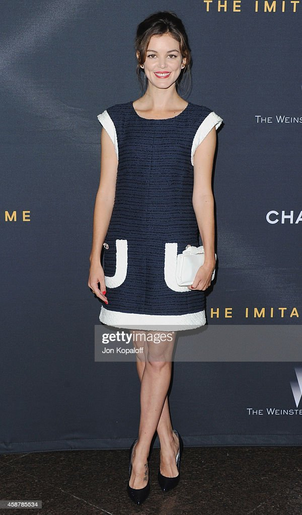 Actress Nora Zehetner arrives at the Los Angeles Special Screening of 'The Imitation Game' Hosted By Chanel at DGA Theater on November 10 2014 in Los...