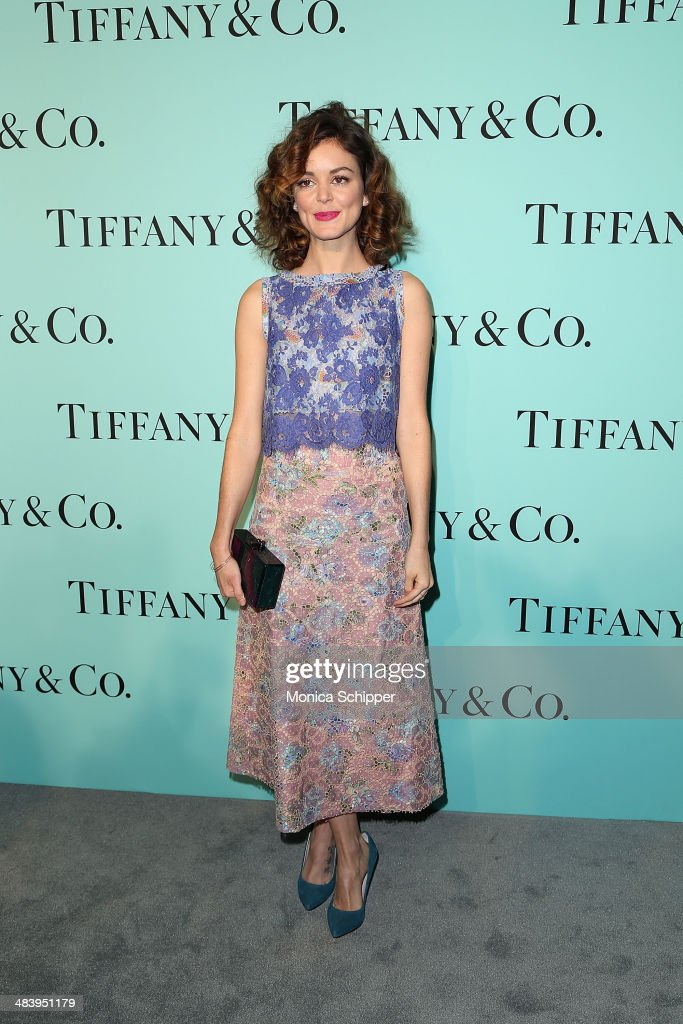 Actress Nora Zehetner attends the 2014 Tiffany's Blue Book Gala at the Guggenheim Museum on April 10 2014 in New York City