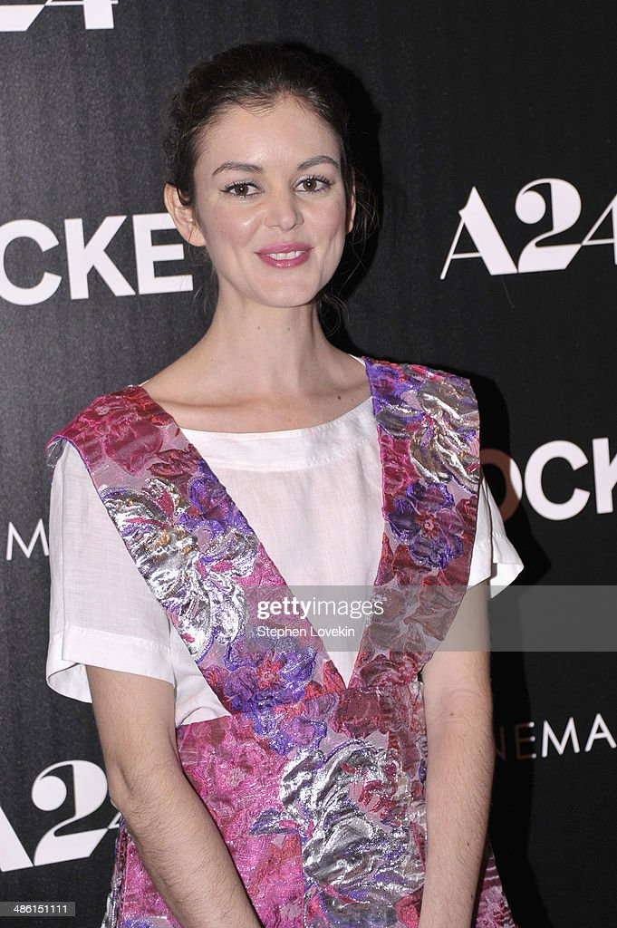 Actress Nora Zehetner attends the A24 and The Cinema Society premiere of 'Locke' at The Paley Center for Media on April 22 2014 in New York City