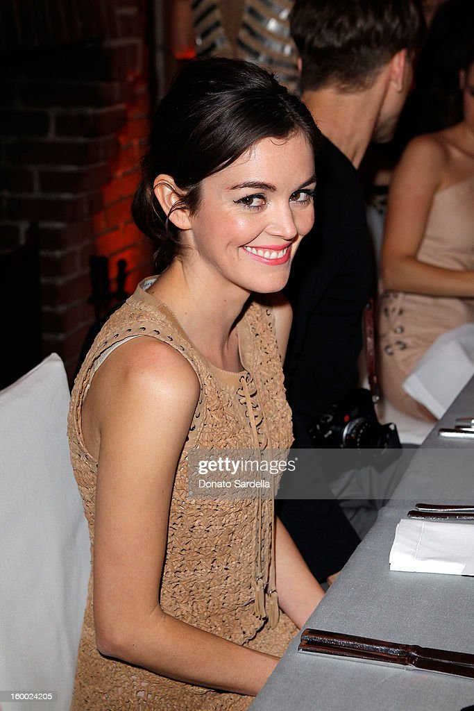 Actress Nora Zehetner attends the Ferragamo presentation Spring Summer Runway Collection with VIP dinner, hosted by Jacqui Getty and Harpers BAZAAR at Chateau Marmont on January 24, 2013 in Los Angeles, California.