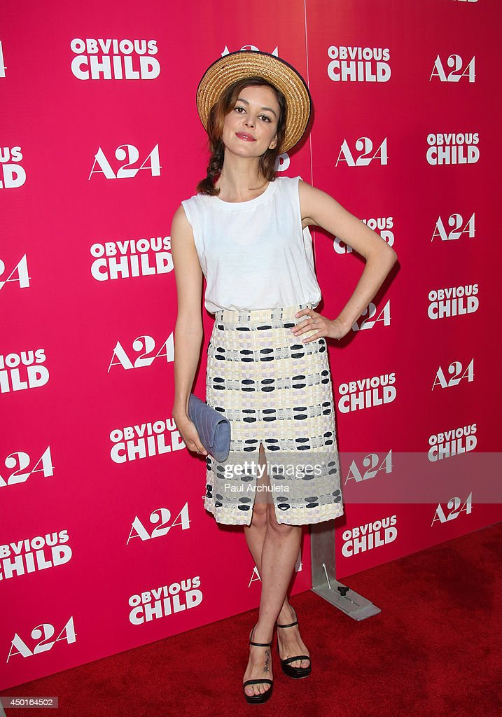 Actress Nora Zehetner attends the screening of 'Obvious Child' at ArcLight Hollywood on June 5 2014 in Hollywood California
