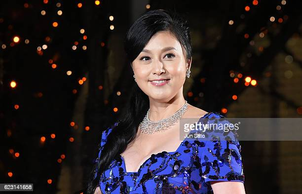Actress Norika Fujiwara attends the Roppongi Hills Artelligent Christmas Lighting Ceremony on November 14 2016 in Tokyo Japan