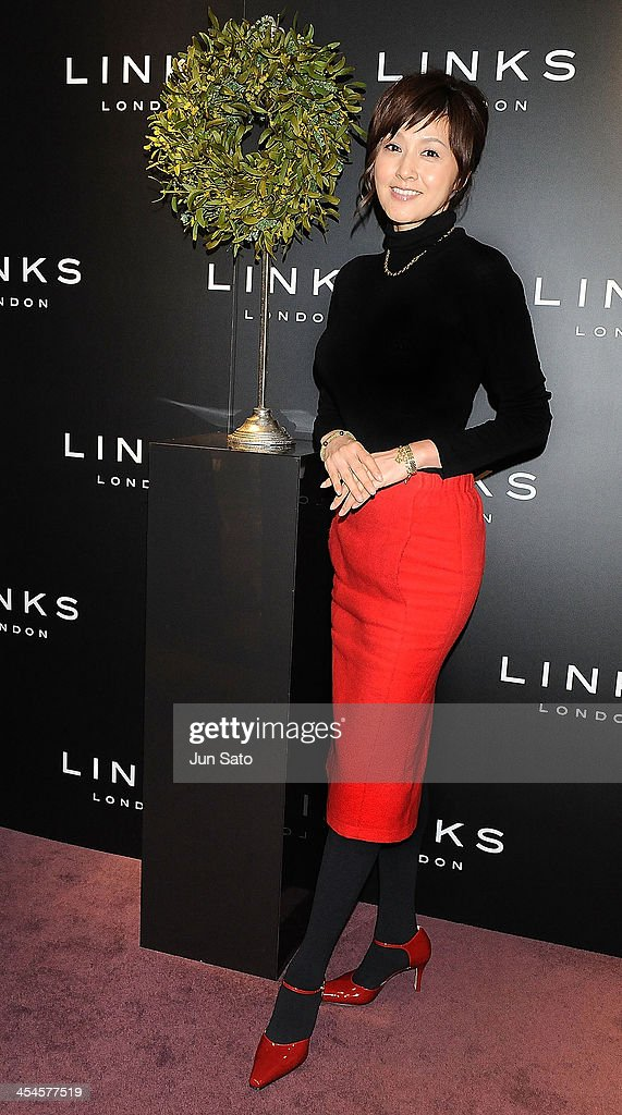 Actress Norika Fujuwara attends the Links of London Christmas Party on December 9, 2013 in Tokyo, Japan.