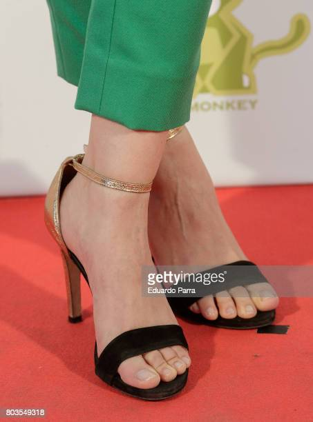 Actress Norma Ruiz shoes detail attends the 'Despido procedente' photocall at Callao cinema on June 29 2017 in Madrid Spain