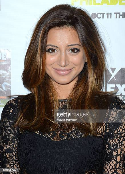 Actress Noureen DeWulf arrives at the Premiere Screenings of FX's 'It's Always Sunny In Philadelphia' Season 8 and 'The League' Season 4 at ArcLight...