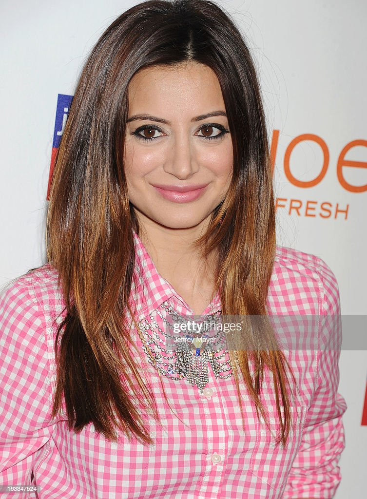 Actress Noureen DeWulf attends the Joe Fresh at jcp launch event at Joe Fresh at jcp Pop Up on March 7, 2013 in Los Angeles, California.