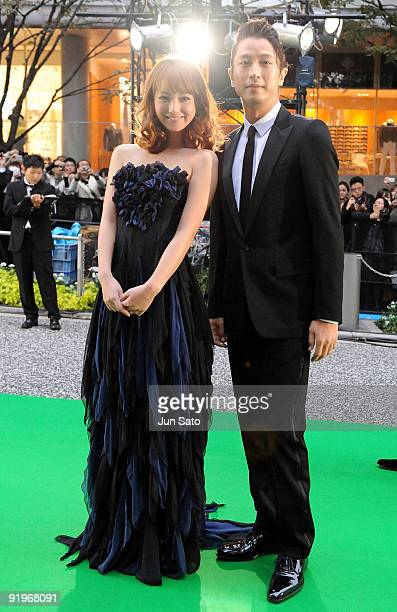 Actress Nozomi Sasaki and Shosuke Tanihara attend the 22nd Tokyo International Film Festival Opening Ceremony at Roppongi Hills on October 17 2009 in...
