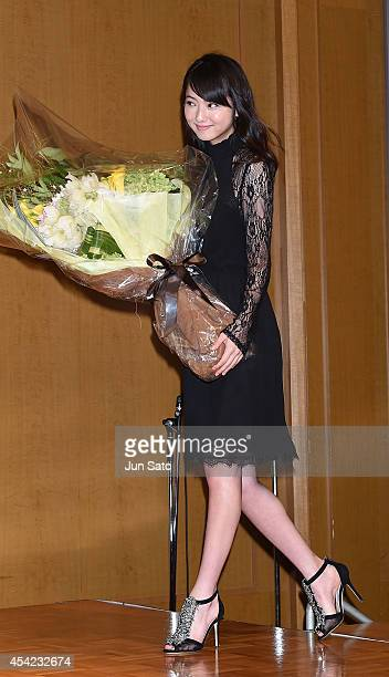 Actress Nozomi Sasaki attends the 'Zulu' press conference at The Ritz Carlton on August 27 2014 in Tokyo Japan