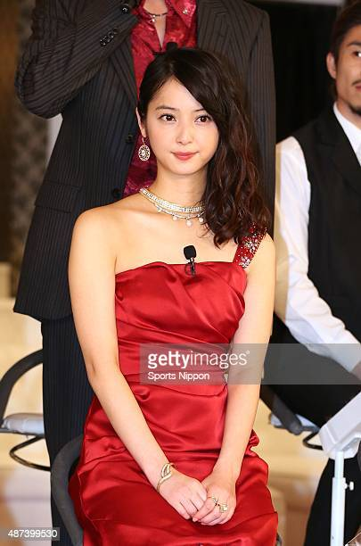 Actress Nozomi Sasaki attends TV Asahi program Press conference on October 20 2014 in Tokyo Japan