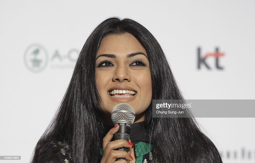 Actress Nusrat Imrose Tisha attends a Closing Film 'Television' Press Conference during the 17th Busan International Film Festival (BIFF) at Busan Cinema Center on October 11, 2012 in Busan, South Korea. The biggest film festival in Asia showcases 304 films from 75 countries and runs from October 4-13.