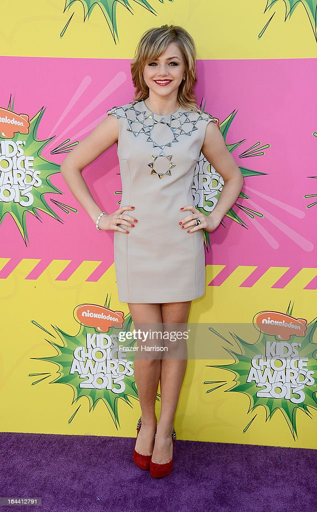 Actress Oana Gregory arrives at Nickelodeon's 26th Annual Kids' Choice Awards at USC Galen Center on March 23, 2013 in Los Angeles, California.