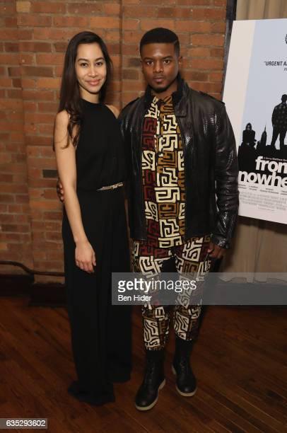 Actress Octavia Chavez Richmond and Actor Jamal MalloryMcCree attends the Special Screening Of FilmRise's 'From Nowhere' at Tribeca Screening Room on...
