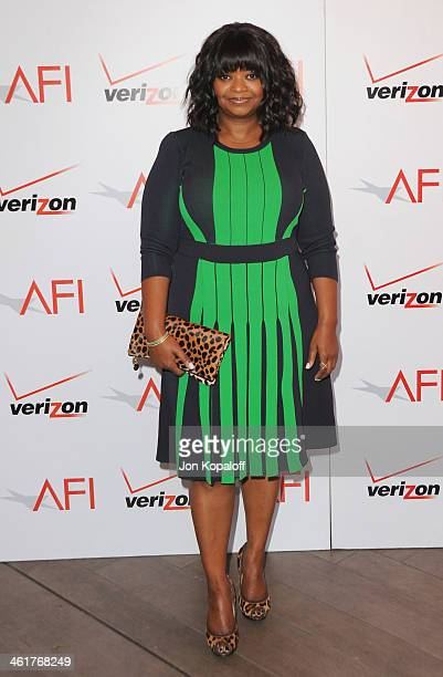 Actress Octavia Spencer arrives at the 14th Annual AFI Awards at Four Seasons Hotel Los Angeles at Beverly Hills on January 10 2014 in Beverly Hills...