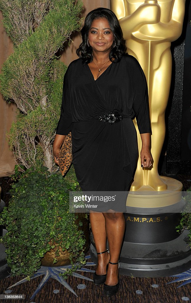 Actress Octavia Spencer arrives at the 84th Academy Awards Nominations Luncheon at The Beverly Hilton hotel on February 6 2012 in Beverly Hills...