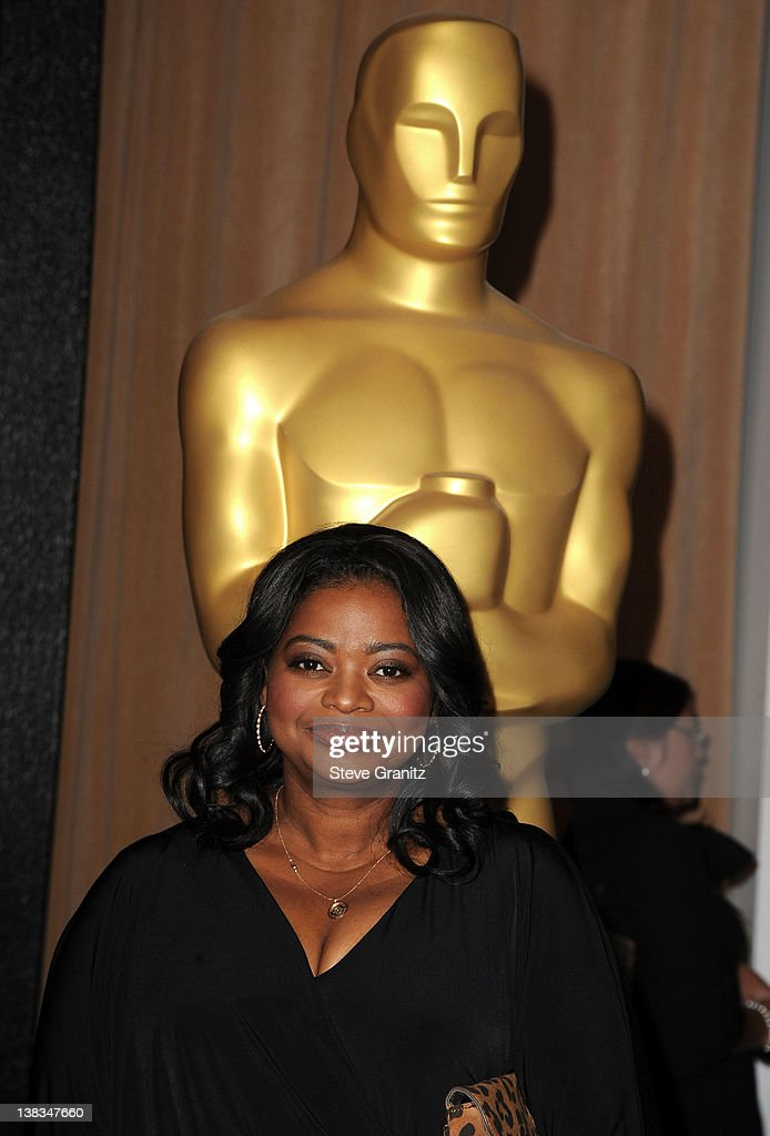 Actress Octavia Spencer arrives at the 84th Annual Academy Awards Nominees Luncheon at The Beverly Hilton hotel on February 6 2012 in Beverly Hills...