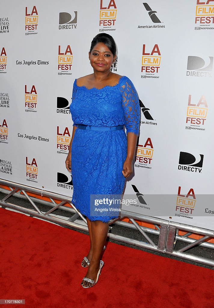 Actress <a gi-track='captionPersonalityLinkClicked' href=/galleries/search?phrase=Octavia+Spencer&family=editorial&specificpeople=2538115 ng-click='$event.stopPropagation()'>Octavia Spencer</a> arrives at the premiere of The Weinstein Company's 'Fruitvale Station' during the 2013 Los Angeles Film Festival at Regal Cinemas L.A. Live on June 17, 2013 in Los Angeles, California.