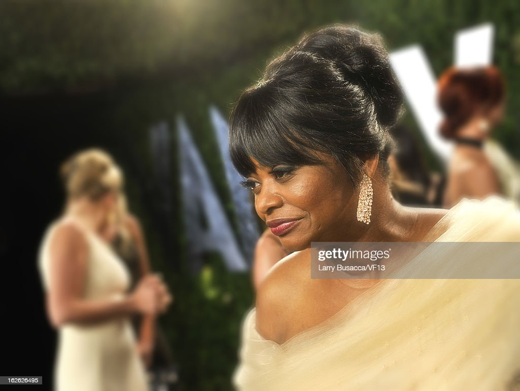 Actress Octavia Spencer arrives for the 2013 Vanity Fair Oscar Party hosted by Graydon Carter at Sunset Tower on February 24, 2013 in West Hollywood, California.
