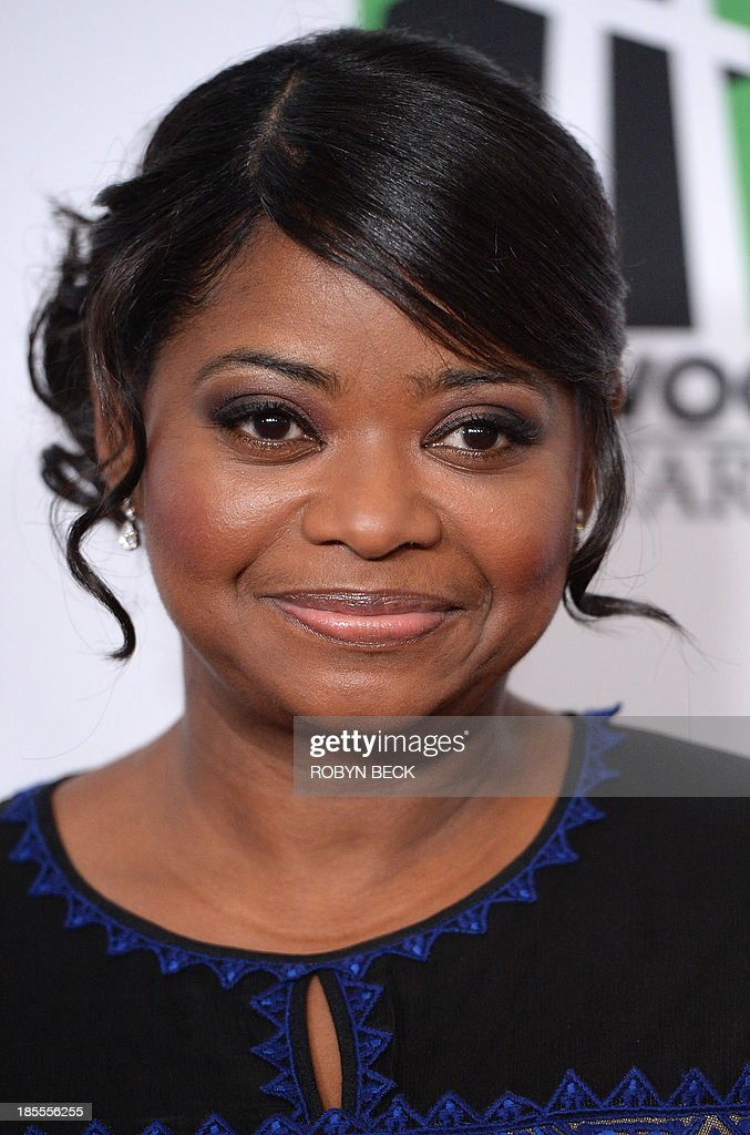Actress Octavia Spencer arrives for the the 17th Annual Hollywood Film Awards Gala, October 21, 2013 at the Beverly Hilton Hotel in Beverly Hills, California AFP PHOTO / Robyn Beck